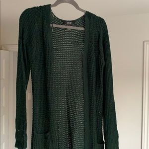Large Green Forest Cardigan